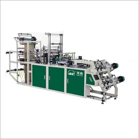 Automatic Double Layer Point Cut Rolling Bag Making Machine