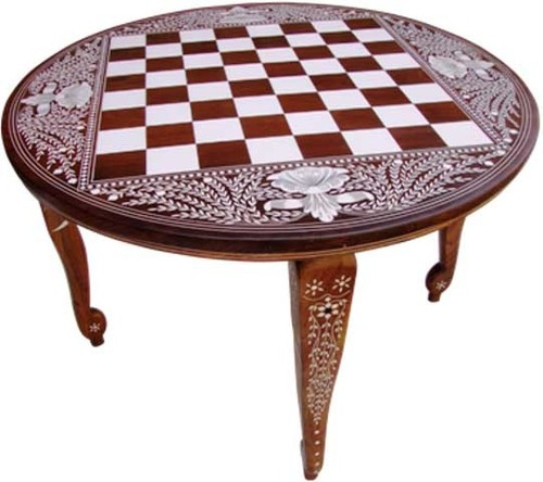 Round Chess Table 24 Inch
