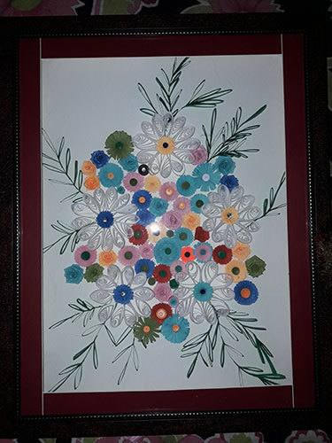 Handmade Multi Color Quilling Scenery