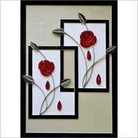 Handmade Roses Design Quilling Scenery