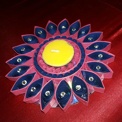 Handmade Decorative Quilling Candle Stand