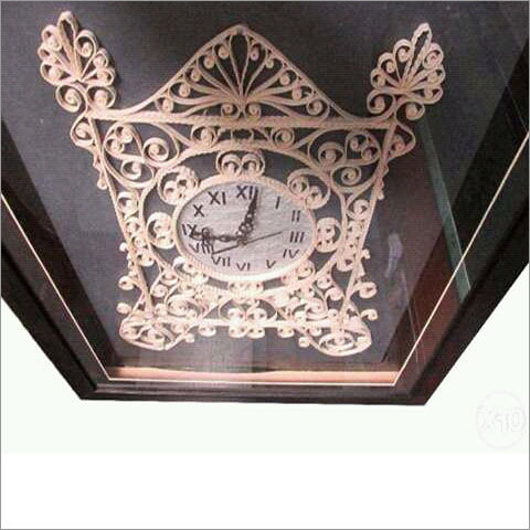 Handmade Colored Quilling Wall Clock with Glass
