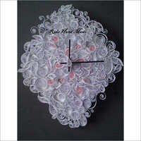 White color Quilling Wall Clock