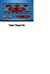 Gem Brass Pin