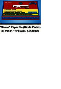 Gemini Paper Pin