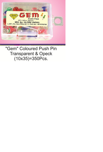 Gem Push pin 35 pc