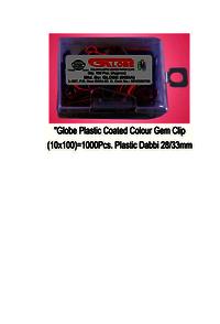 Globe Color Clip 100 pc PB