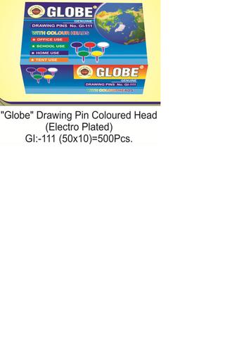 Globe Colored Head Drawing Pin