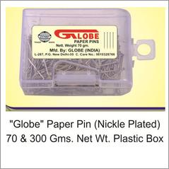 Globe Paper Pin Plastic Box