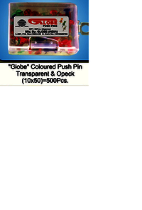 Globe Push Pin 50 pc