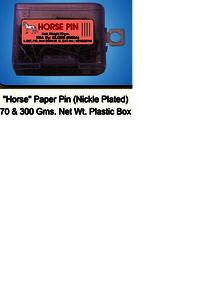 Horse paper Pin PB