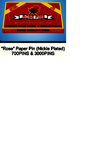 Rose 700 Paper Pin