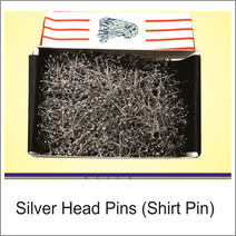 Silver Head & Brass Pin