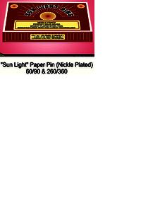 Sunlight Paper Pin