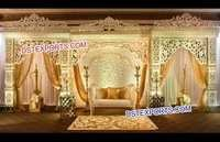 Royal Rajwada Wedding Fibre Stage