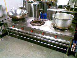 Three Burner Bulk Cooking Range