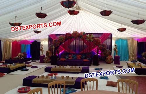 Wedding Rajasthani Umbrella Theme Decoration