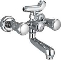 Shower Wall Mixer With Flanges & Crutch