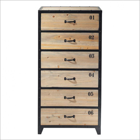 Iron 6 Drawer Chest