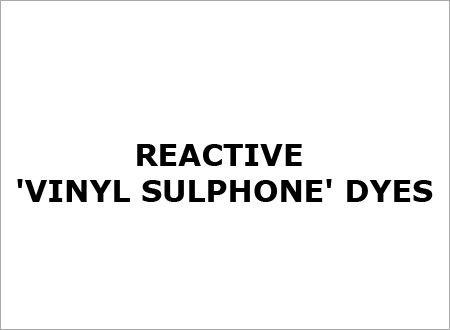Reactive Vinyl Sulphone Dyes