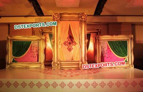 Golden Wedding Square Frame Panels
