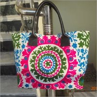 Suzani Embroidered Tote Bag