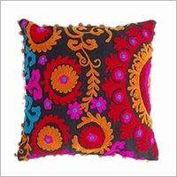 Suzani Embroiderd White Cushion Cover