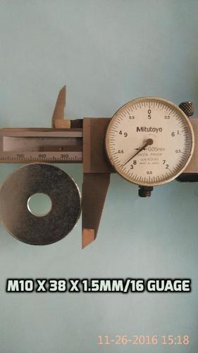 M 10 x 38 x 1.5mm plain washers