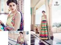 Digital Print Anarkali Suit