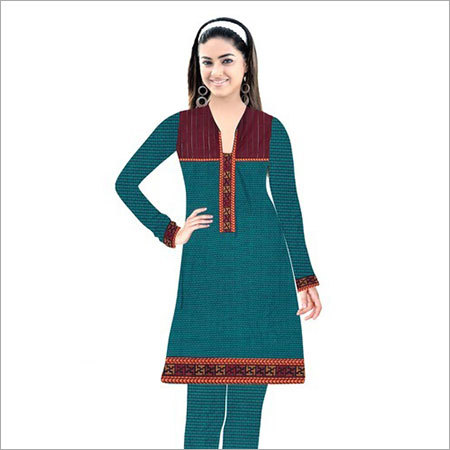 Ladies Designer Woolen Kurti And Bottom Fabric