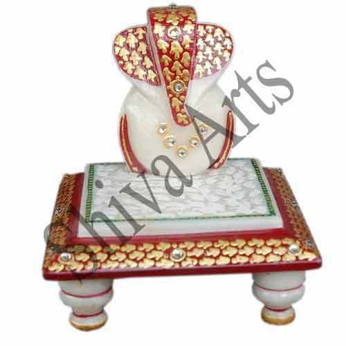 Red Leaves Marble Chowki