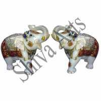 Marble Decorative Elephants