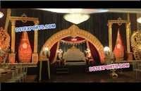Beautiful Wedding Carved Half Moon Stage