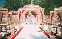 Outdoor Wedding Carved Jodha Akbar Mandap
