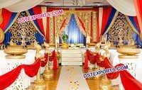 Elegant Golden Carved Wedding Stage