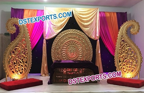 Indian Wedding Stage Backdrop Decoration Indian Wedding Stage