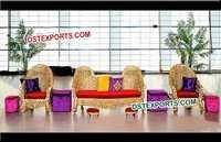 Teak Wood Carving Heavy Design Sofa Set