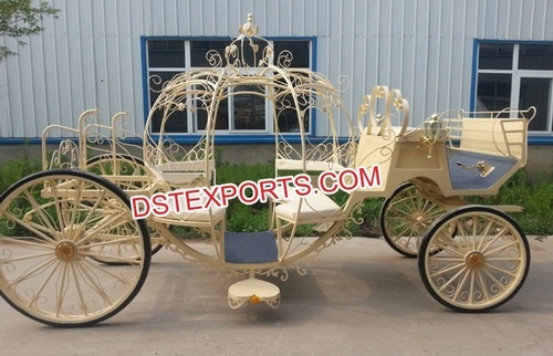 Royal Gold Cinderella Horse Carriage Baghi