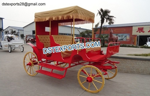 Decorated Horse Drawn Buggy Carriage