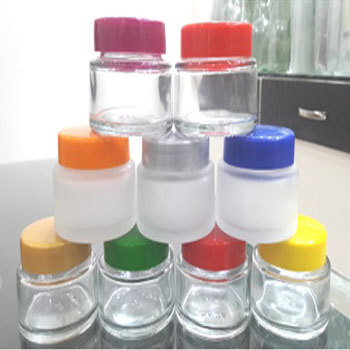 50Gms Cream Glass Jars with Plastic Lids