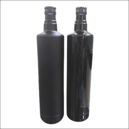 Black Shine & Mat Finish Coated Bottles