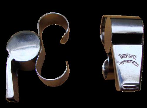 Finger loop Referee metal whistle