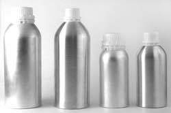 Plain Brushed Aluminium Bottles