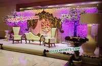 Gorgeous Asian Wedding Reception Stage Set