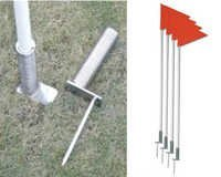 Spring Base Pole with Rectangular Base