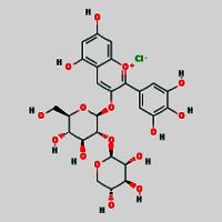 Delphinidin 3-sambubioside chloride