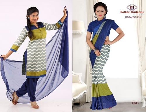 Uniform Saree & Chudidhar in same concept