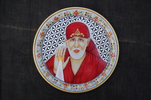 Decorative Sai Baba Marble Plate