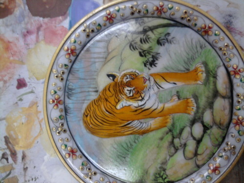 Tiger Marble Plate