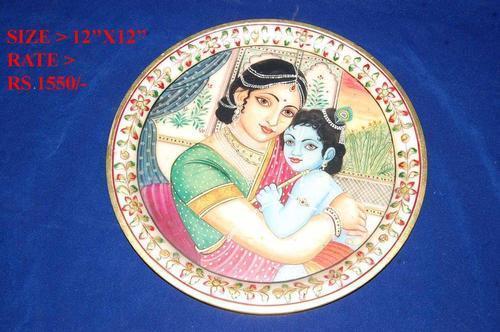 Yasoda Krishna Marble Plate